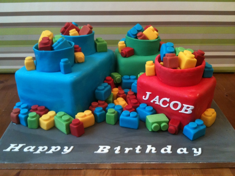 Mega Blox Cakes With Smarties Filled Tops Cakecentral