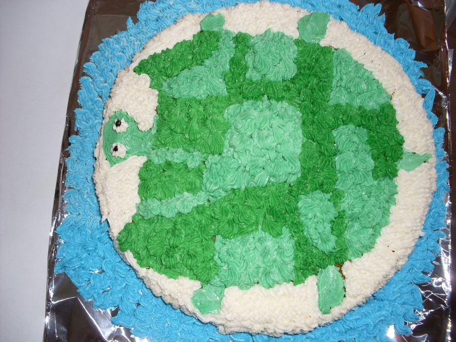 Buttercream Turtle on Cake Central