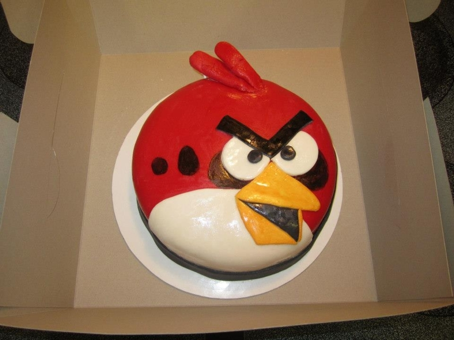 Red Angry Bird on Cake Central