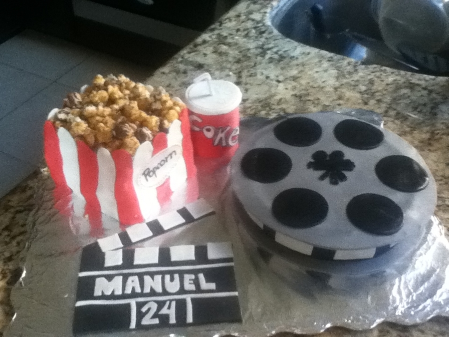 Popcorn, Movies And More  on Cake Central
