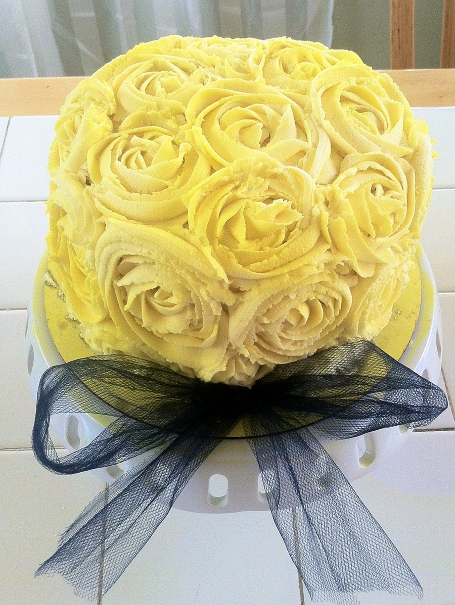 Yellow Rose Cake on Cake Central