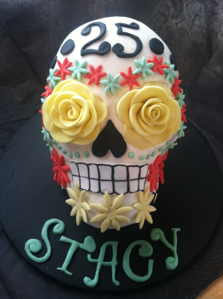 Day Of The Dead Skull Cake on Cake Central