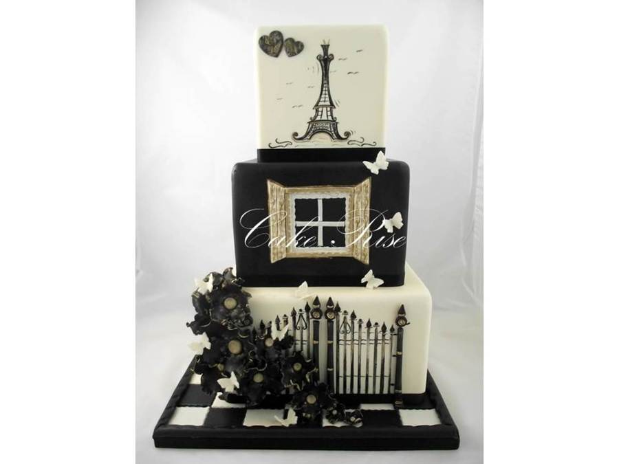 Parisian Themed Wedding Cake By Cake Rise on Cake Central
