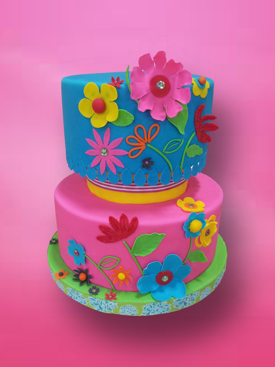 Fun Flowers on Cake Central