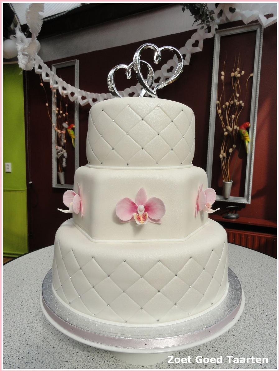 Orchid Wedding Cake on Cake Central