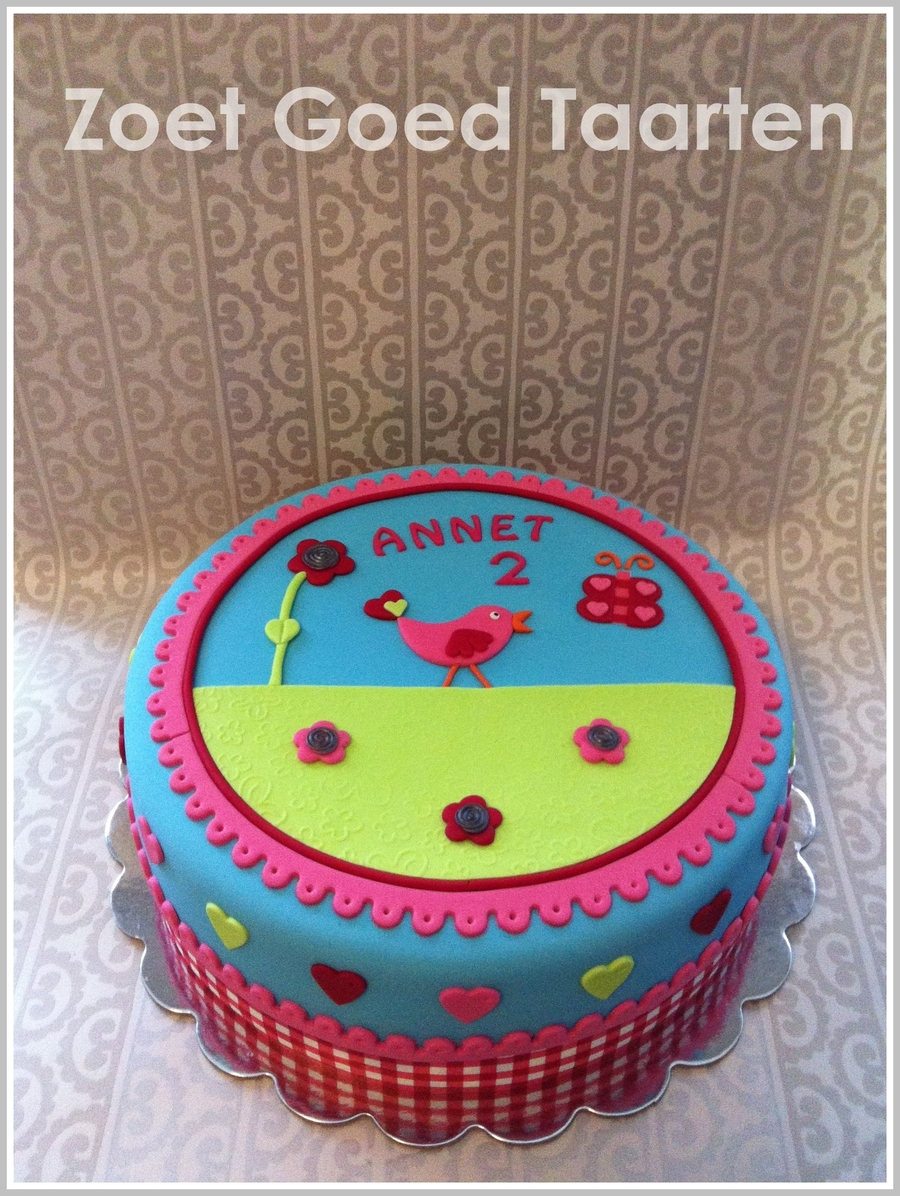 Little Birdie Birthday Cake on Cake Central