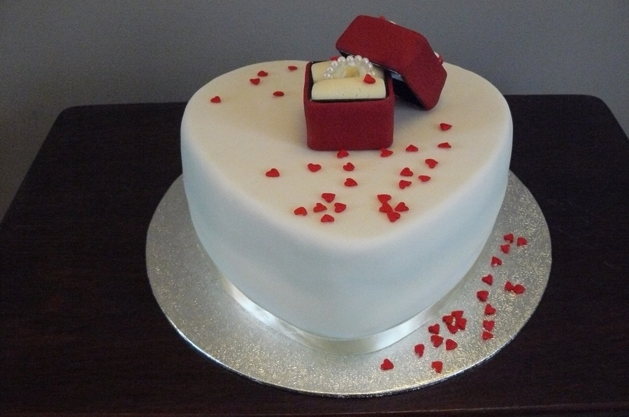 Valentine Proposal Cake on Cake Central
