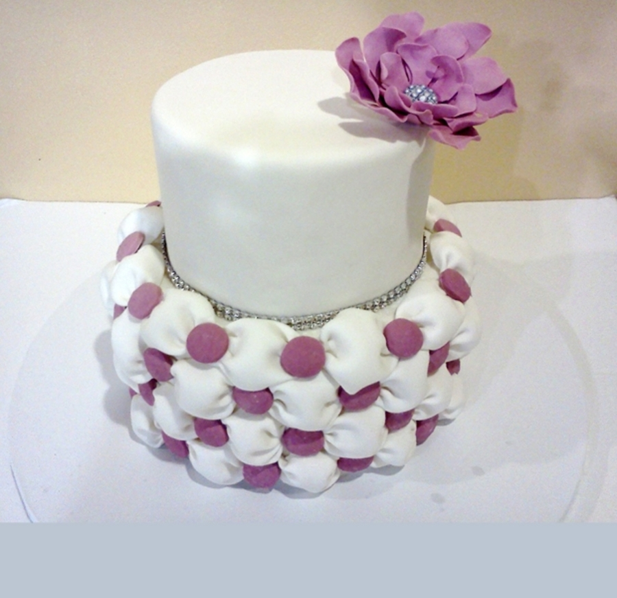 Billowing And Tufting Wedding Cake  on Cake Central