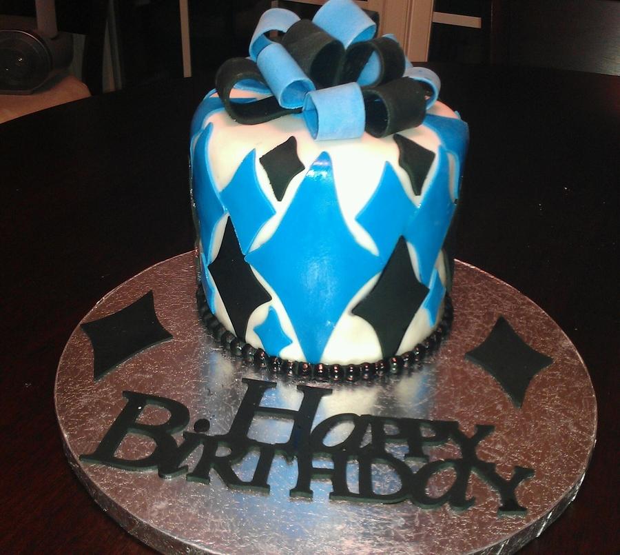 B Day Cake For John Cakecentral Com