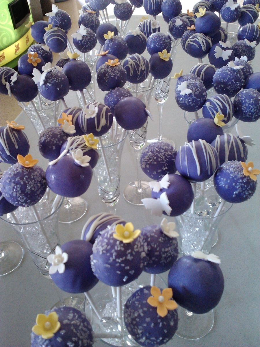 Wedding Cake Pops on Cake Central