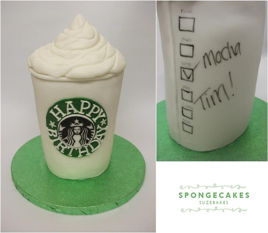Starbucks Coffee Birthday Cake