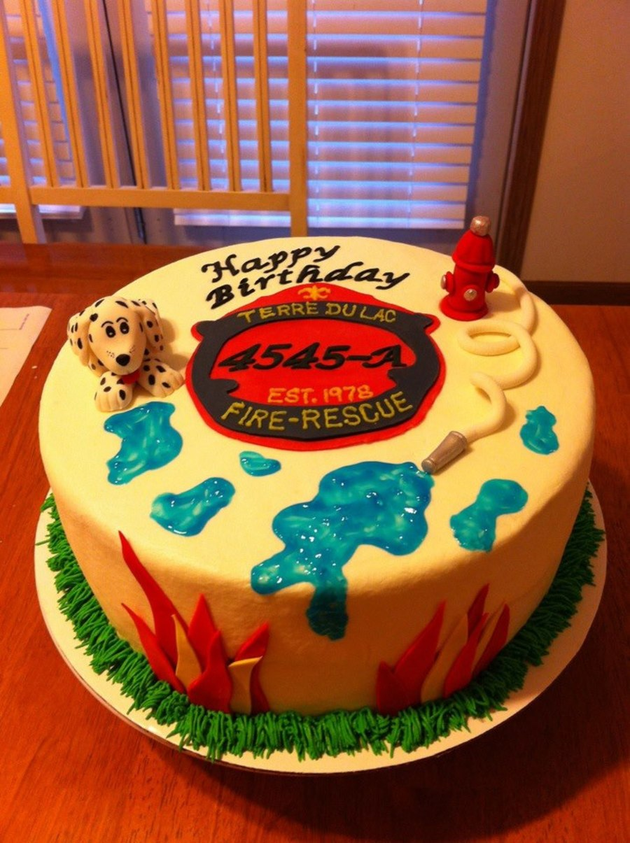 Fireman Rescue Birthday Cake on Cake Central