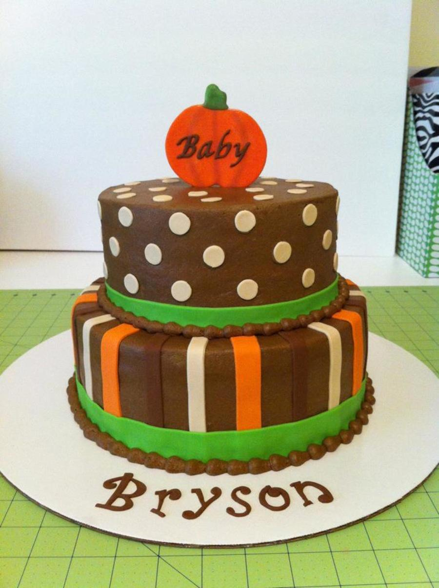 Fall Pumpkin Baby Shower on Cake Central