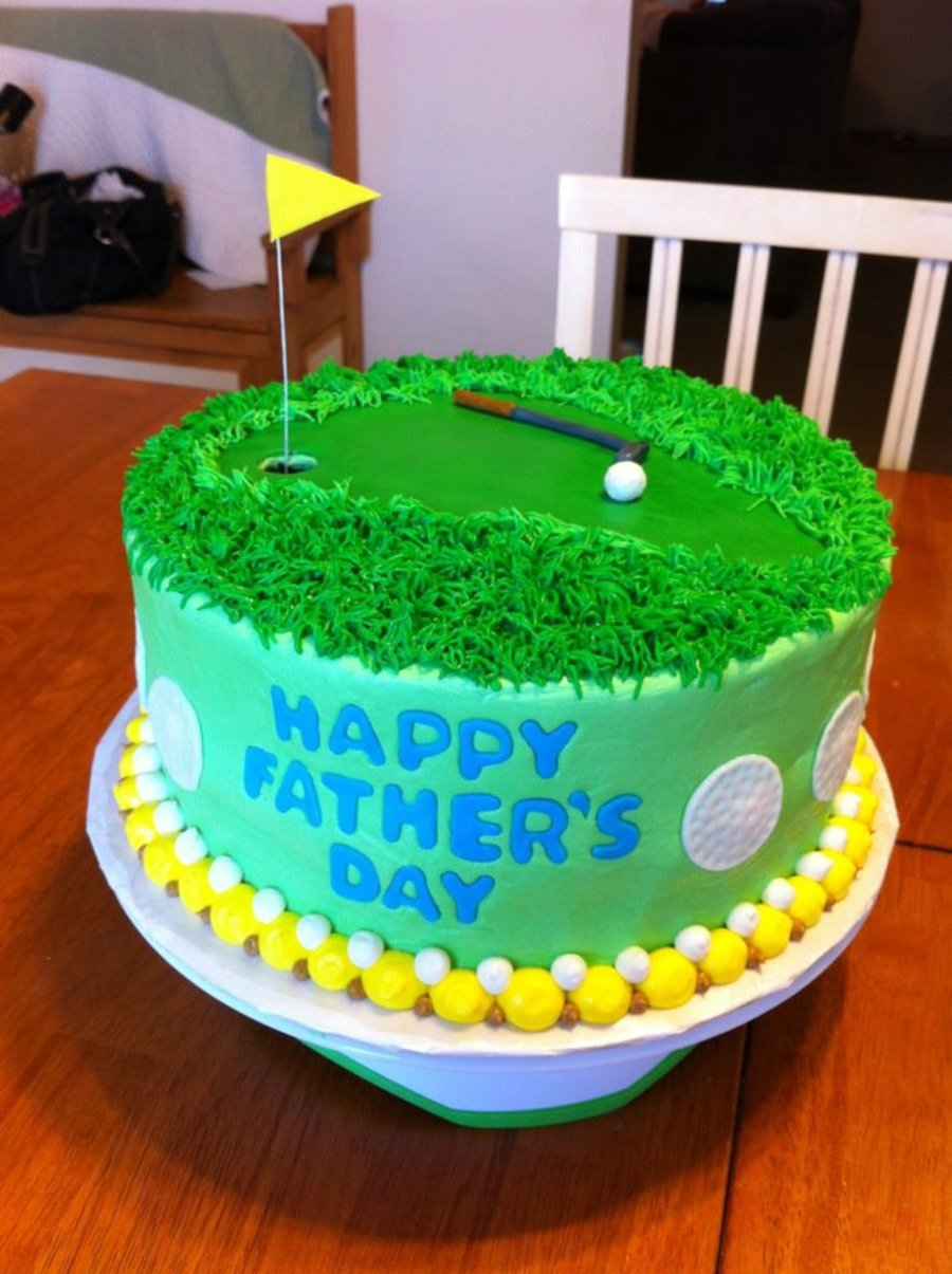 Golf Father's Day  on Cake Central