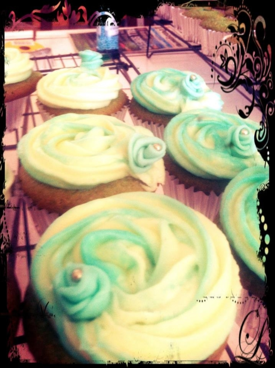 Teal Cupcakes  on Cake Central
