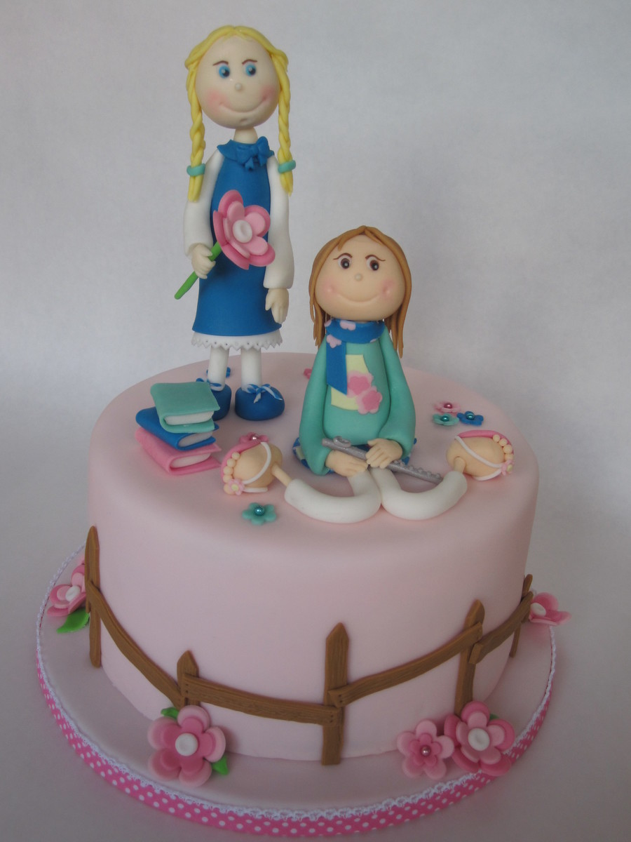 Two Birthday Girls One Cake Cakecentral Com