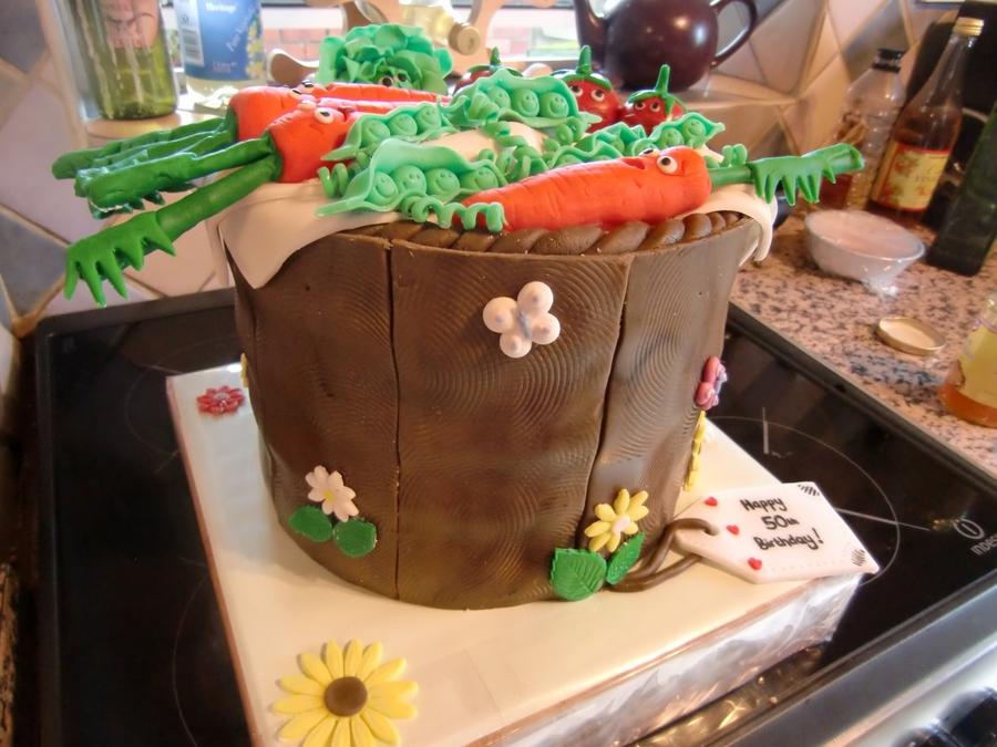 Cake Recipes In Veg: Vegetable Cake, Happy Vegetables