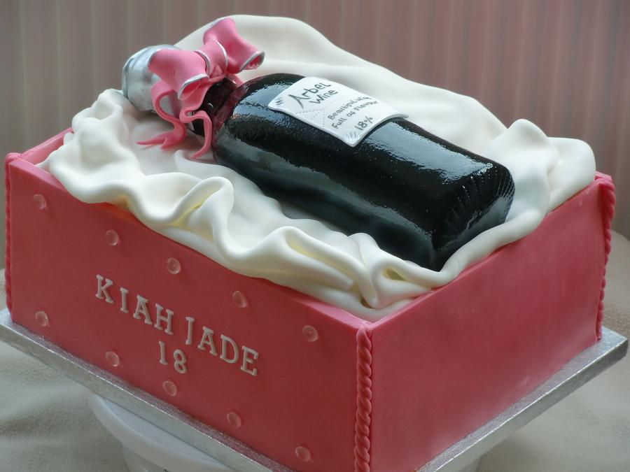 Wine Bottle Cake Cakecentral Com