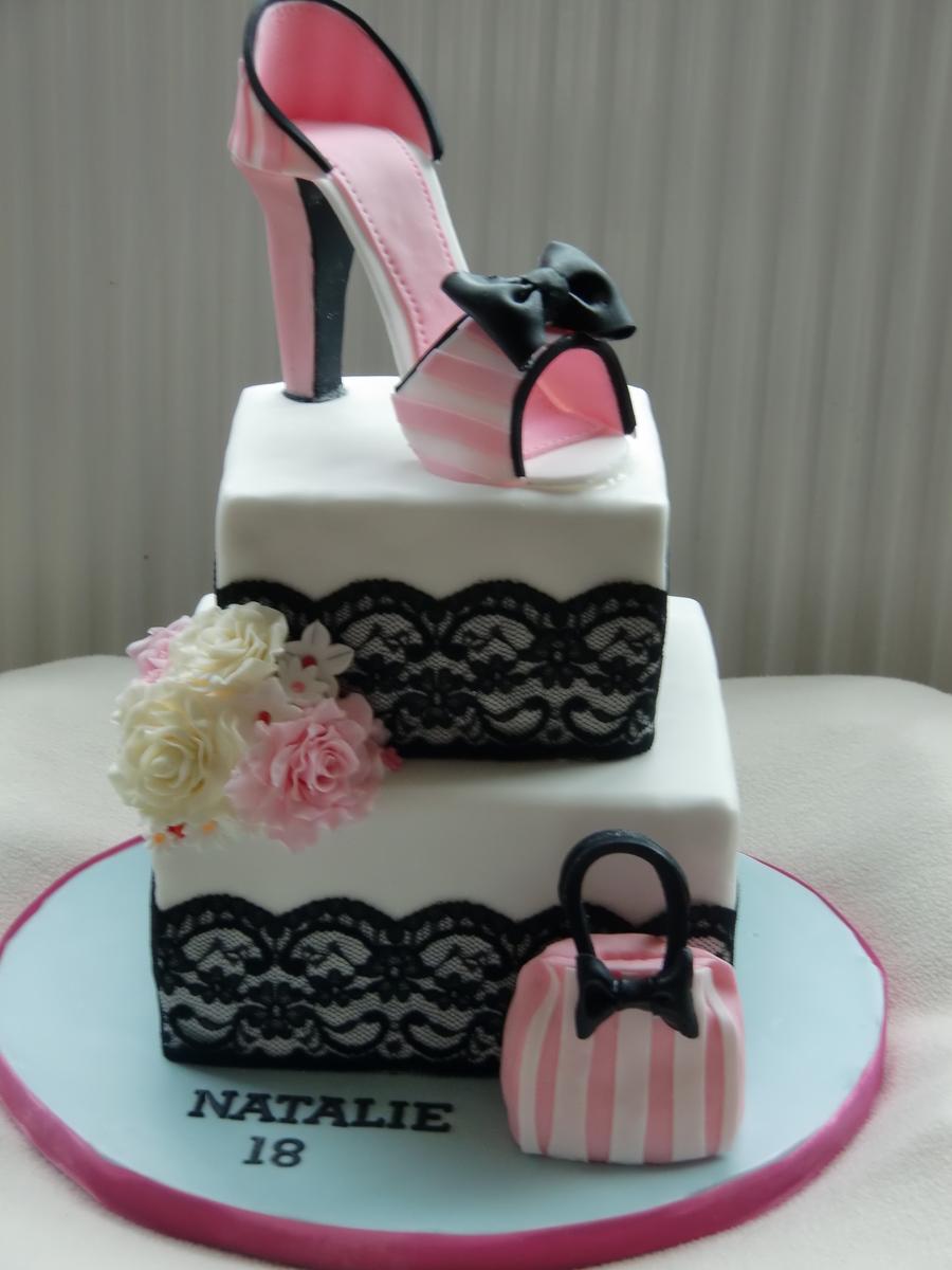 Forty Years Birthday Cake Navy