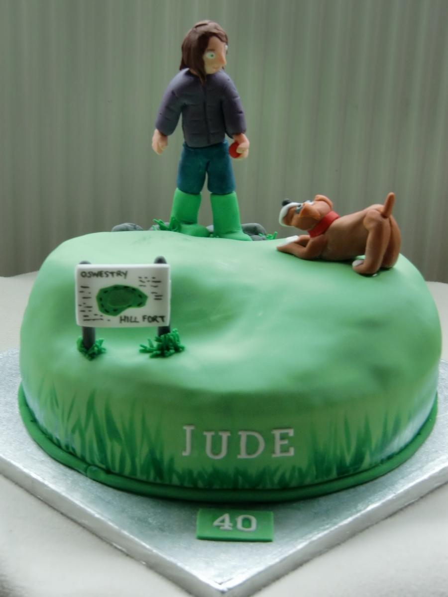 Walking A Dog Cake Cakecentral Com
