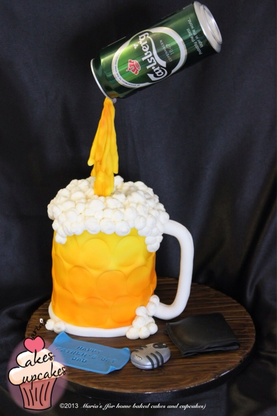 Floating Beer Cake For My Husband On Fathers Day