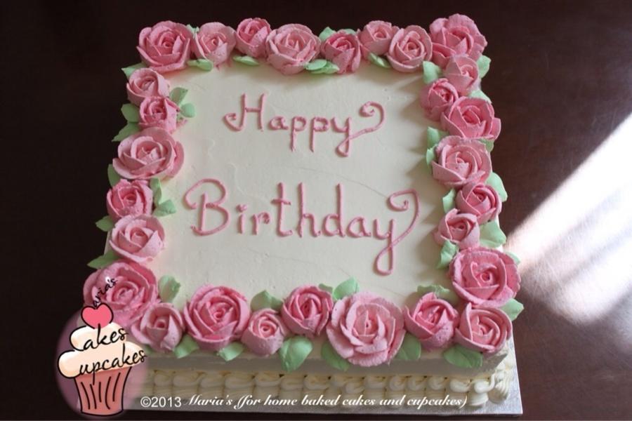 Simple Whipped Cream Birthday Cake