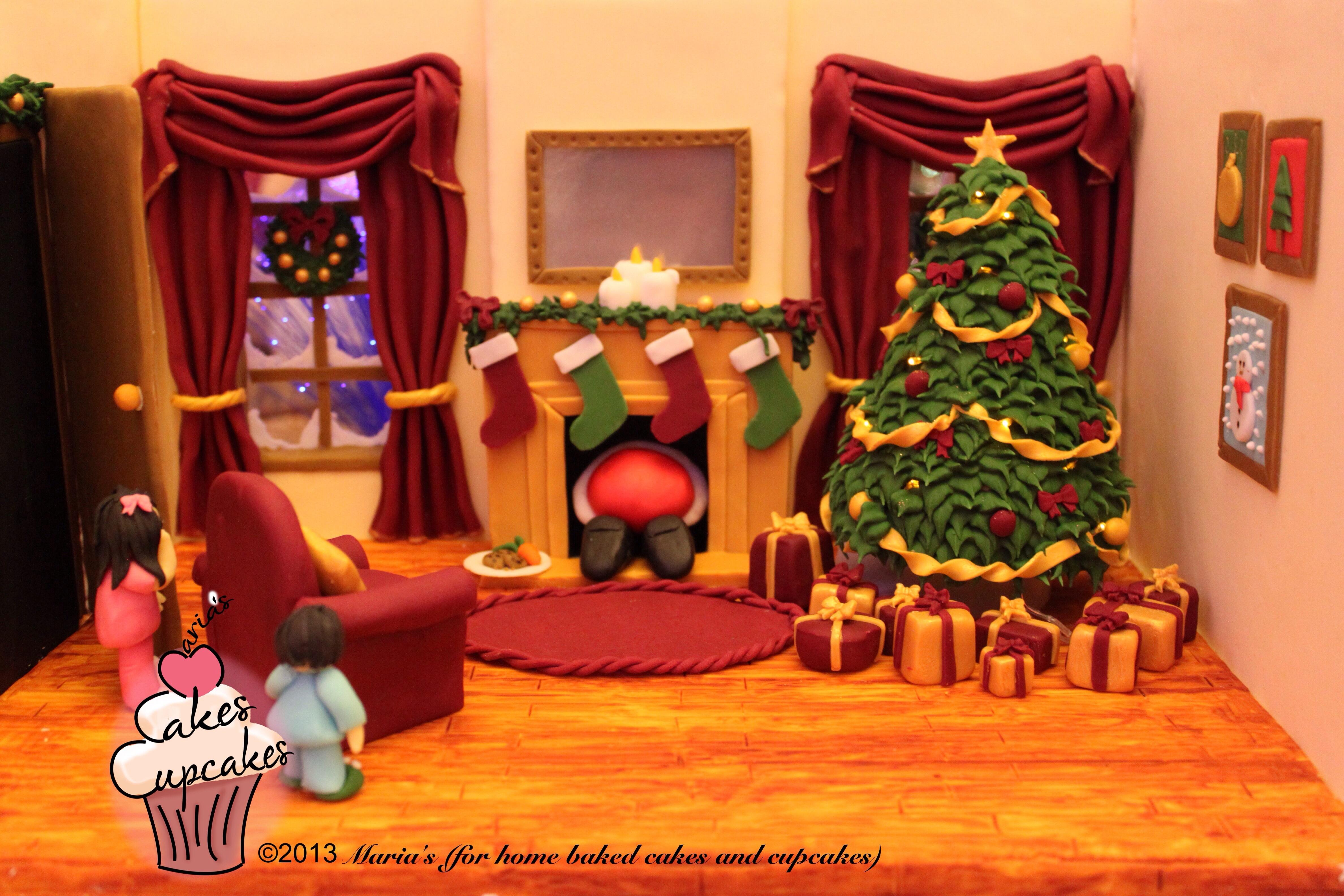 Cake Decorating Room : The Night Before Christmas Christmas Cake 2013 The Living ...