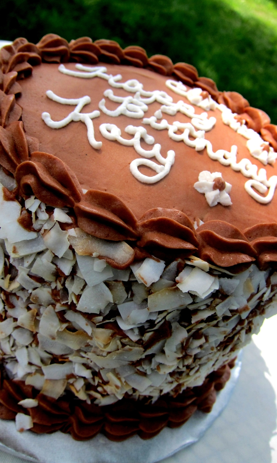 Gluten Free Diary Free Chocolate Coconut Cake on Cake Central