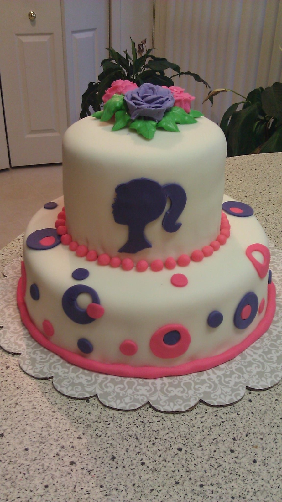 Barbie Inspired Cake on Cake Central