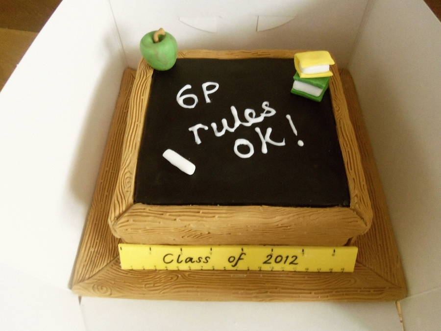 Blackboard Cake on Cake Central