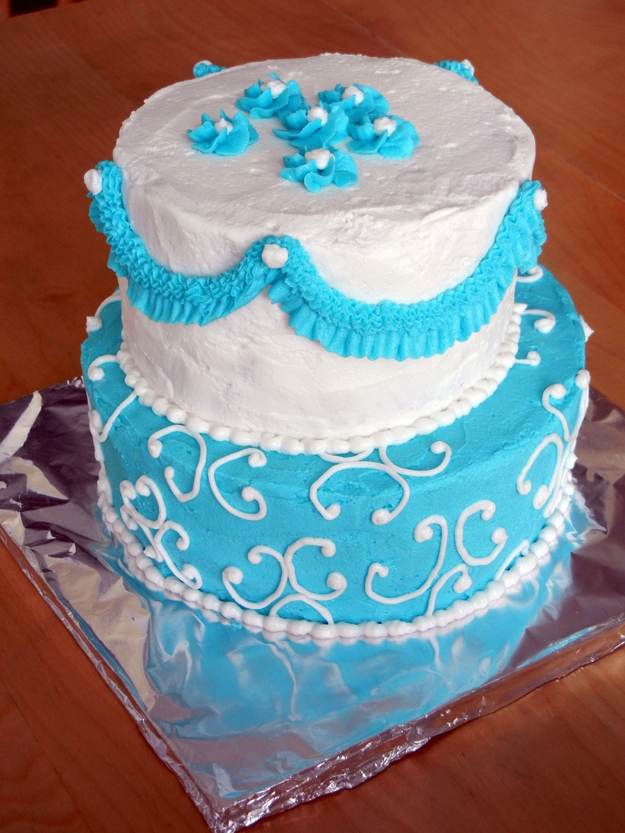 Pretty Blue on Cake Central