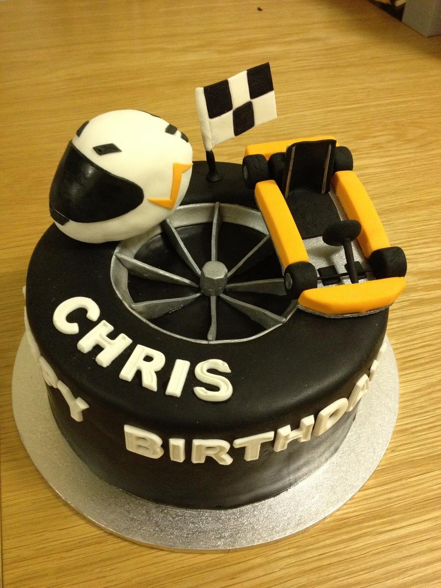 Go Kart Birthday Cake