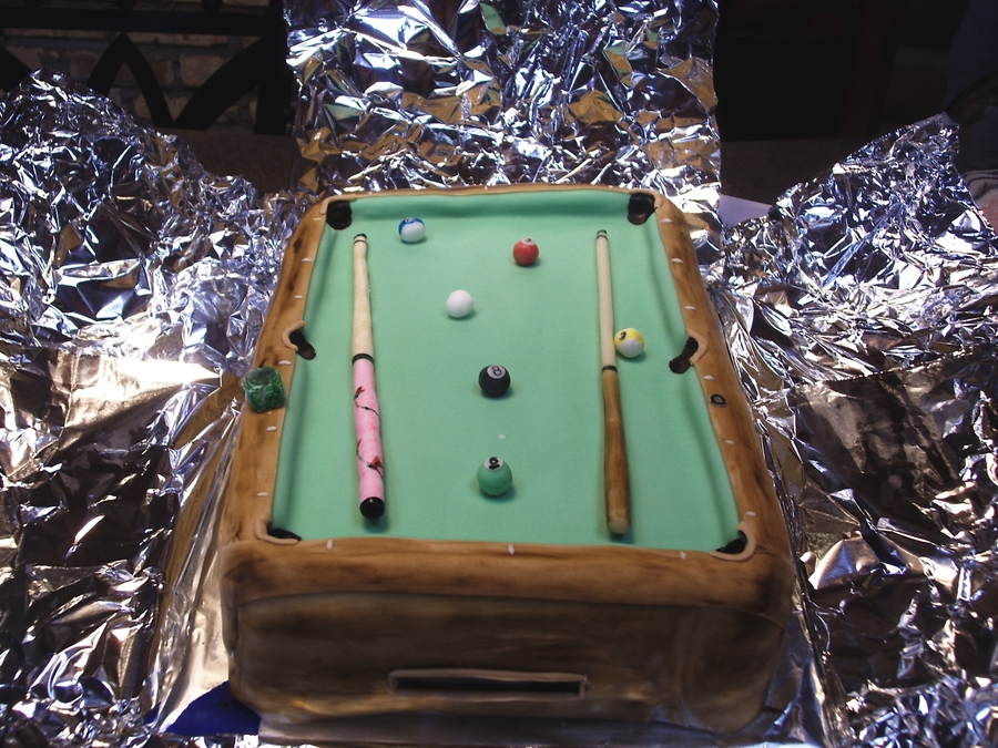Pool Table Cake on Cake Central