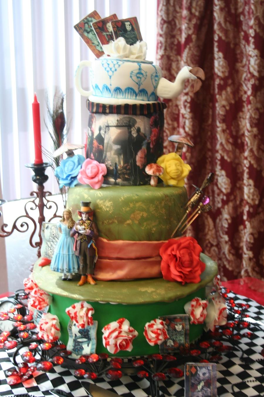 Alice In Wonderland Wedding Cake - CakeCentral.com