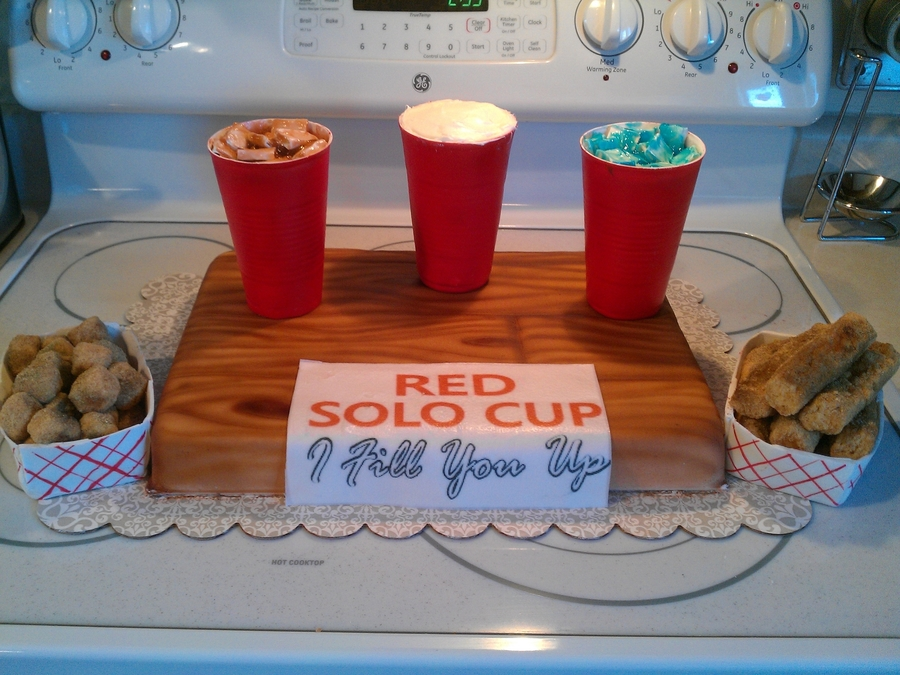 Red Solo Cup Party At Green Gables on Cake Central