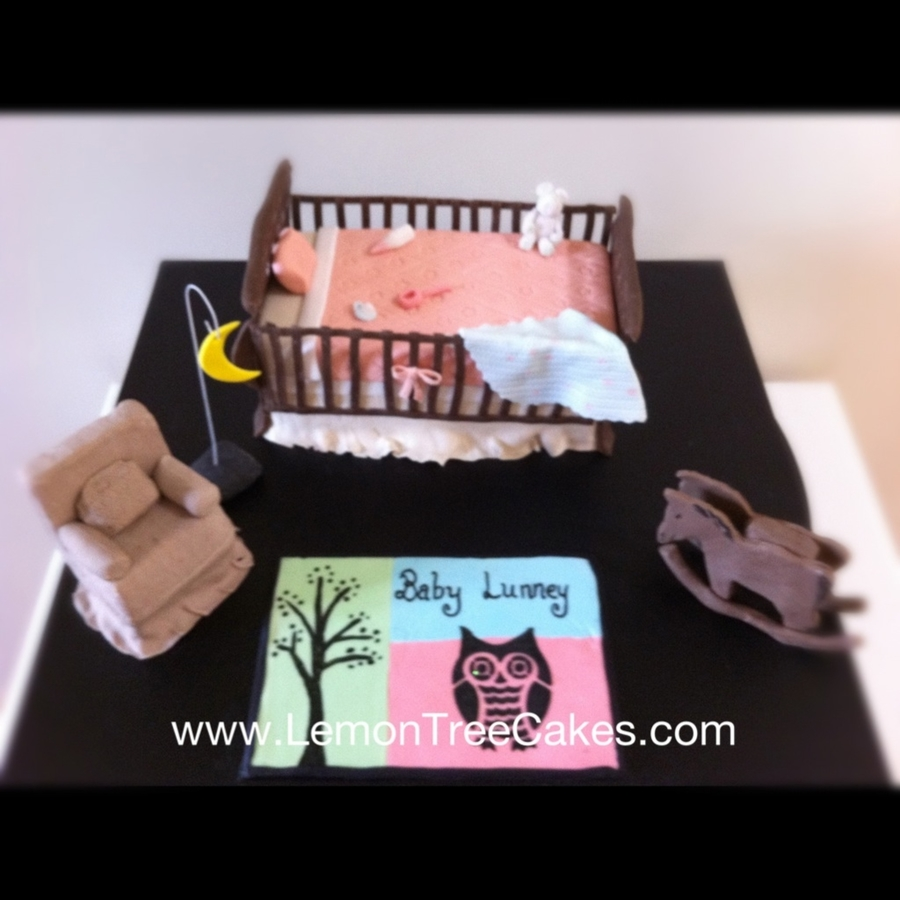 Baby Shower Crib Cake on Cake Central
