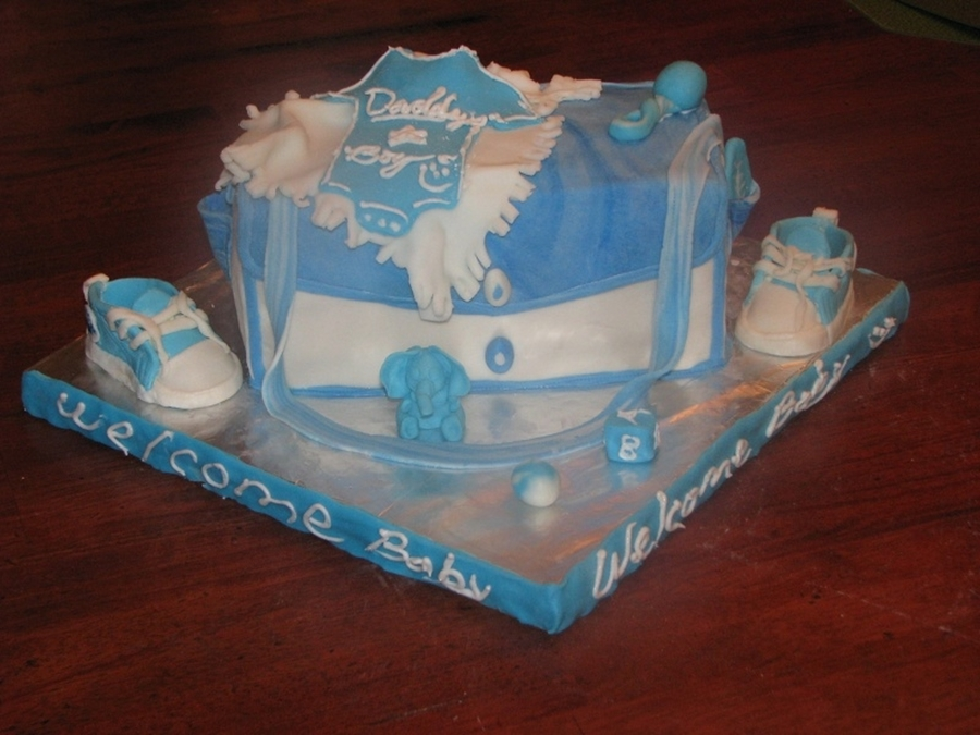 First Diaper Bag Cake on Cake Central