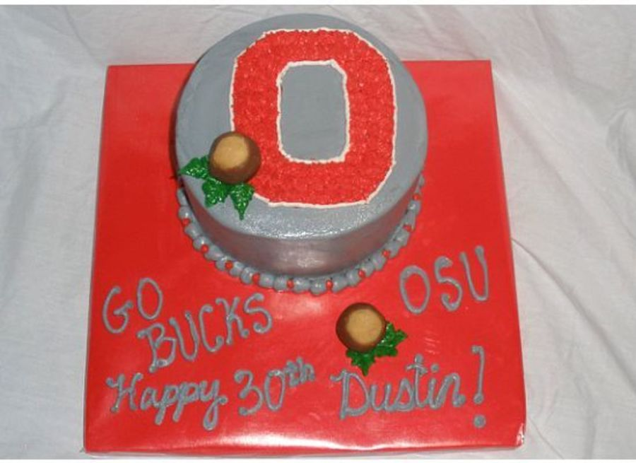 Ohio State Buckeyes Small Bday Cake  on Cake Central