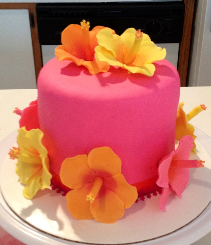 Hibiscus Cake Cakecentral Com