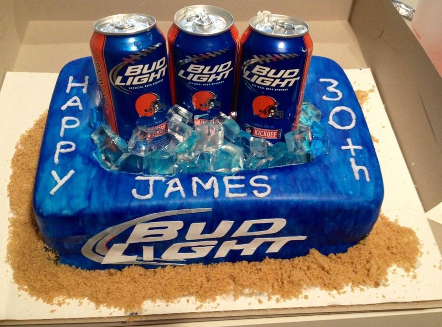 Admirable Bud Light Cake Cakecentral Com Funny Birthday Cards Online Elaedamsfinfo