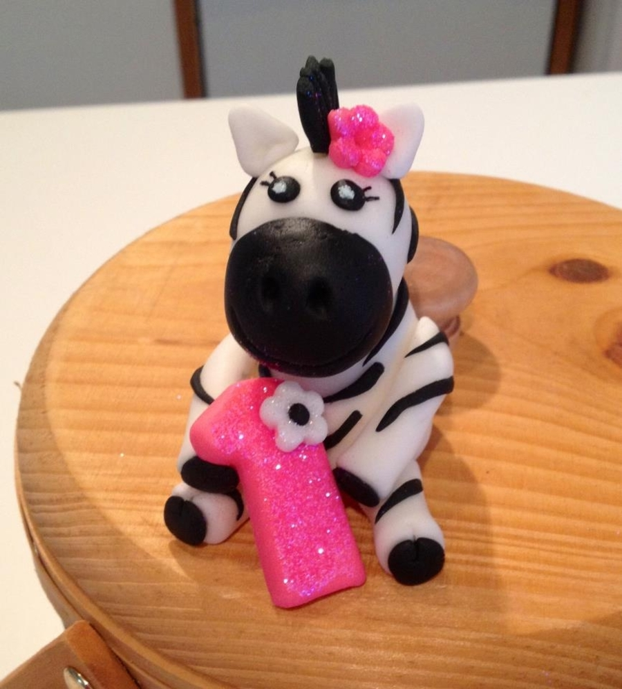 Baby Zebra Cake Topper on Cake Central