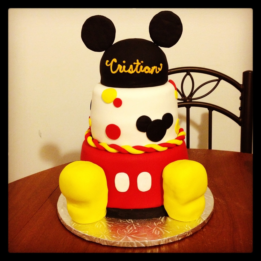 How To Make Mickey Mouse Feet For Cake