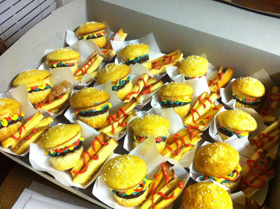 Burger And Fries Cupcakes on Cake Central