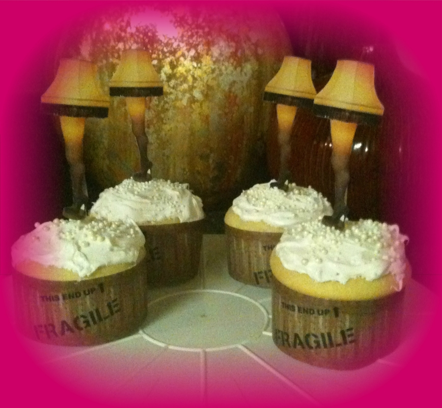 A Christmas Story Leg Lamp Cupcakes  on Cake Central