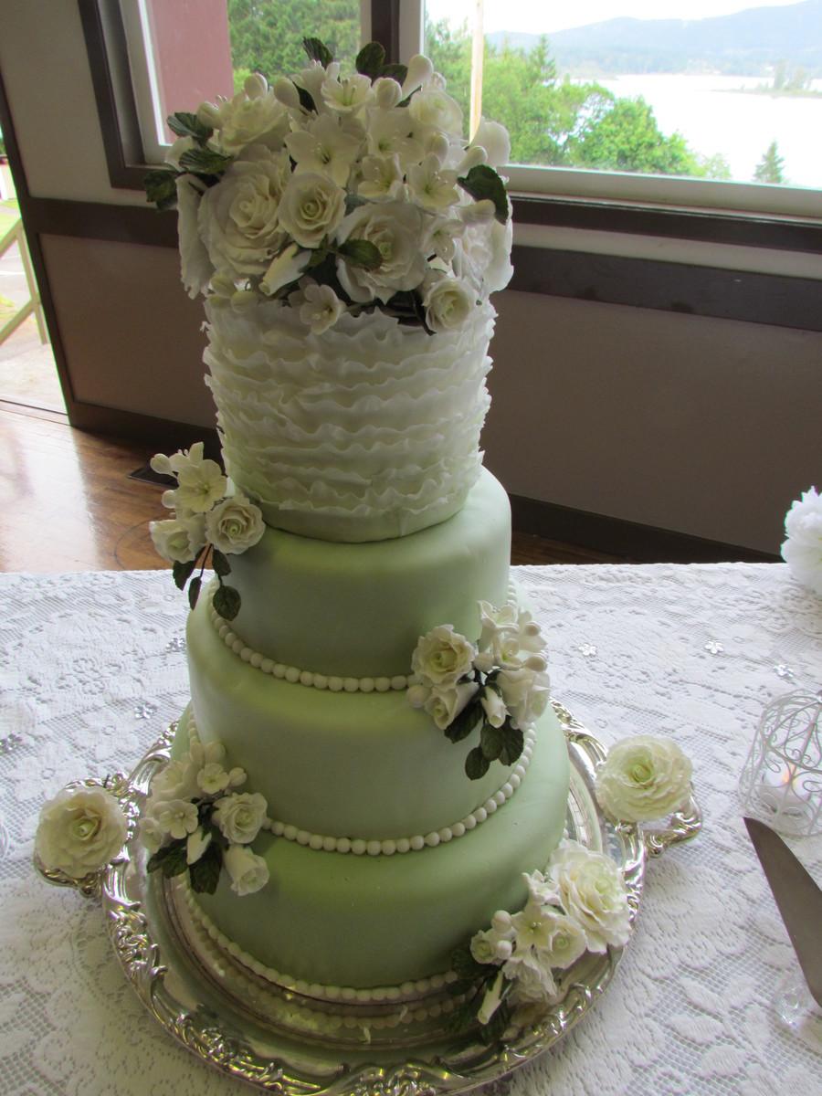 1st wedding cake made for my daughter. Black Bedroom Furniture Sets. Home Design Ideas