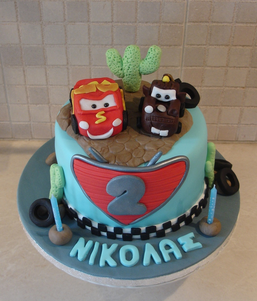 Mcqueen And Mater Cake  on Cake Central