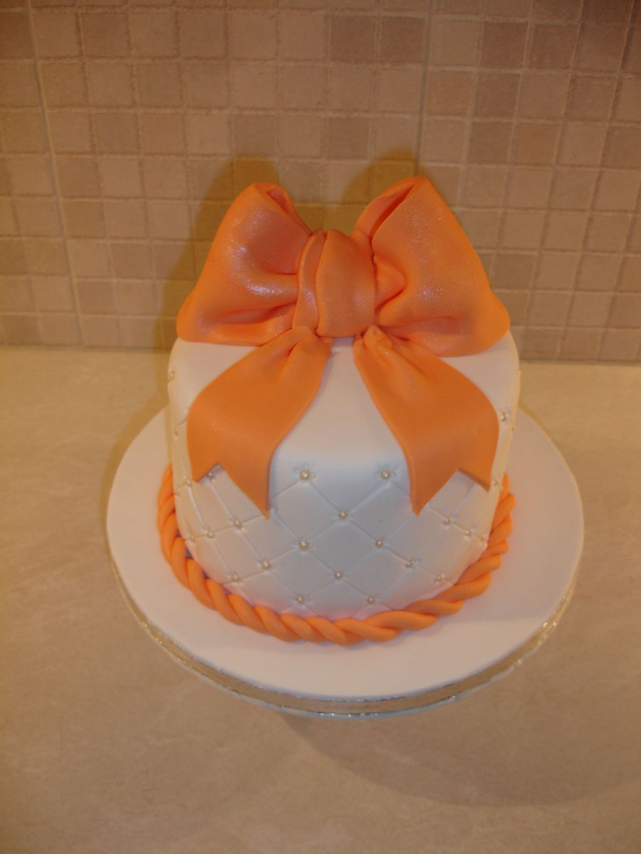 Orange Bow Cake  on Cake Central