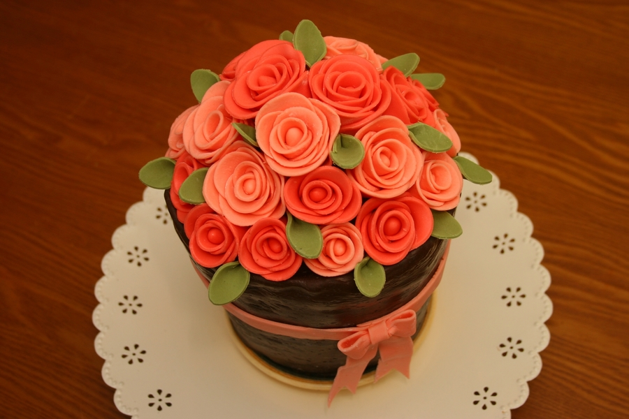 Flower Pot Birthday Cake on Cake Central