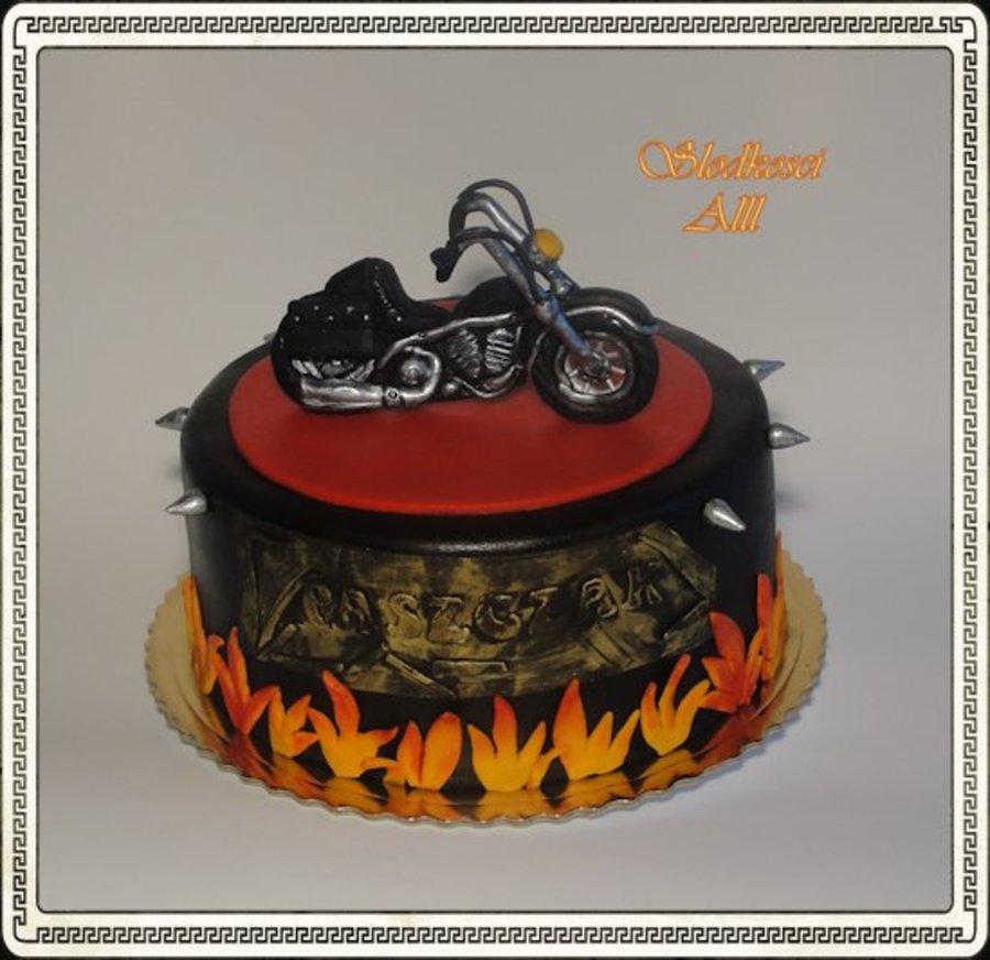 Prime Motorcycle Birthday Cake Cakecentral Com Funny Birthday Cards Online Alyptdamsfinfo