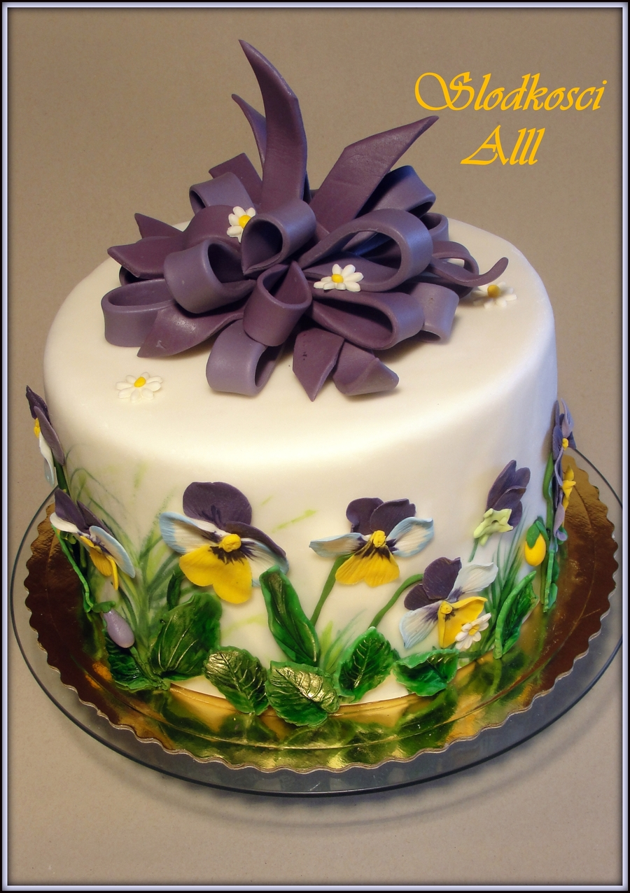 Pansies Cake Cakecentral Com